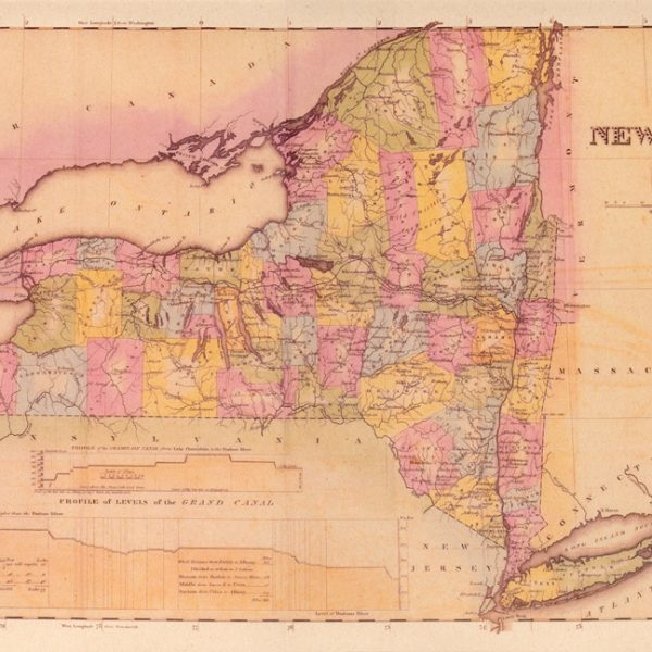 New York State 1825 Map Poster - Erie Canal Museum
