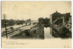 Harbor scene, Oswego, New York.