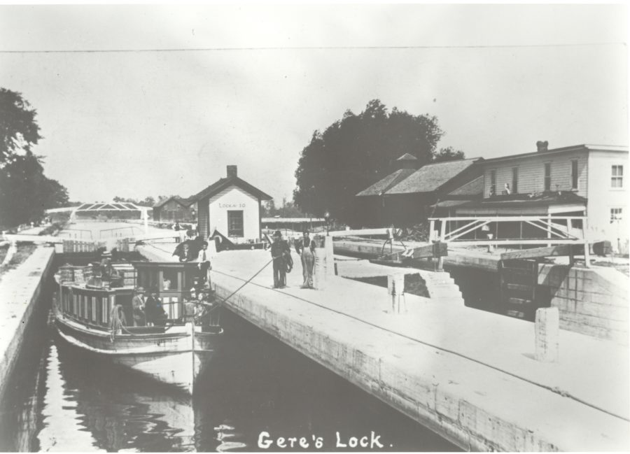 Gere's Lock on the Erie Canal near Syracuse, New York.